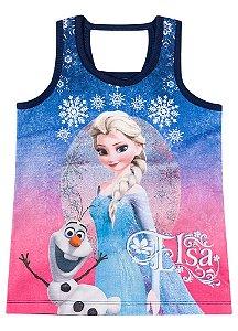 Blusa Elsa e Olaf ( Frozen) - Azul Marinho
