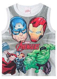 Regata Avengers - Cinza - Brilha no Escuro