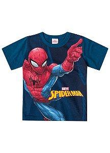 Camiseta Homem Aranha - Marvel - Azul Petróleo