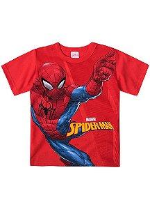 Camiseta Infantil Homem Aranha Marvel - Vermelha - Brandili