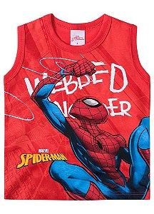 Regata Homem Aranha - Marvel - Vermelha