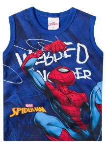 Regata Homem Aranha - Marvel - Azul Royal - Brandili