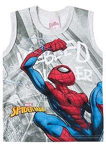 Regata Homem Aranha - Marvel - Cinza Mescla