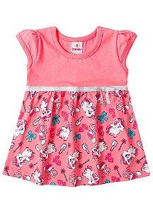 Vestido Bebê Unicórnio Coral - Brandili