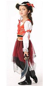 Fantasia de Piratinha - Branca e Laranja