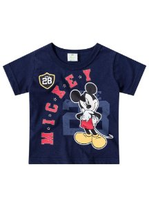 Camiseta do Mickey - Azul Marinho - Disney Baby