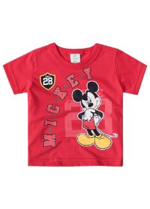 Camiseta do Mickey - Vermelha - Disney Baby - Brandili