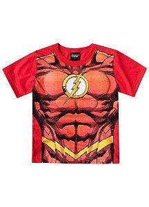 Camiseta Flash Músculos - Liga da Justiça - Vermelho - Brandili