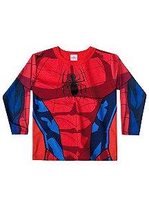 Camiseta do Homem Aranha - Gola Vermelha - Brandili