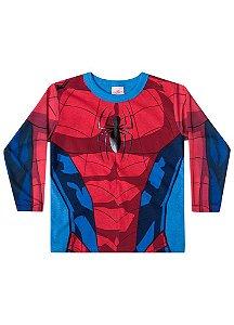 Camiseta do Homem Aranha - Gola Azul