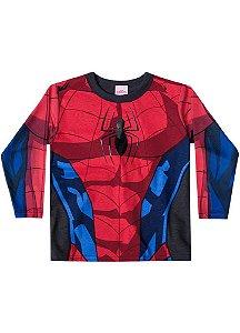 Camiseta do Homem Aranha - Gola Preta - Brandili