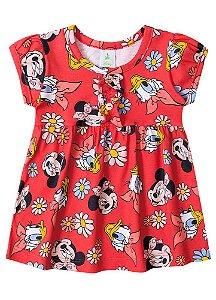 Vestido Minnie e Margarida - Vermelho