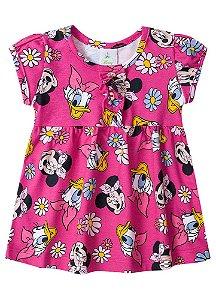 Vestido Bebê Minnie e Margarida - Rosa - Disney - Brandili