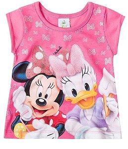 Blusa Bebê Menina Minnie e Margarida Rosa - Brandili