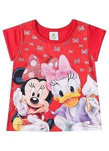 Blusa Baby da Minnie e Margarida - Vermelha