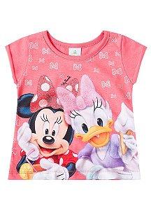Blusa Baby da Minnie e Margarida - Salmão