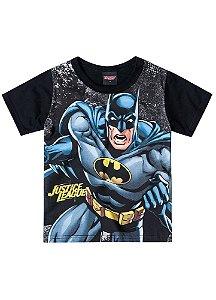 Camiseta Batman - Liga da Justiça - Brilha no Escuro