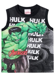 Regata Infantil Hulk Avengers - Preta - Brandili