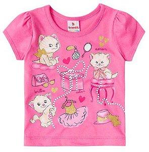 Blusa Bebê Gatinhos Rosa - Brandili