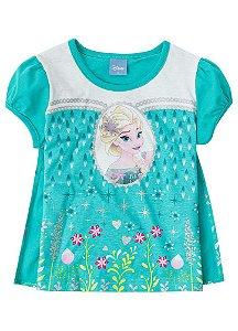 Blusa da Elsa com Capa - Disney Frozen - Verde