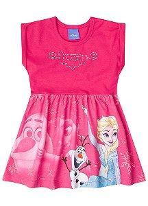 Vestido Frozen Elsa e Olaf - Rosa - Brandili