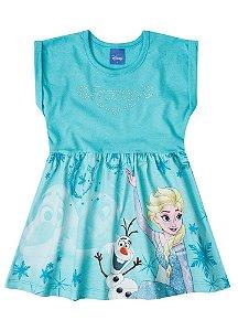 Vestido da Elsa e Olaf - Disney Frozen - Azul