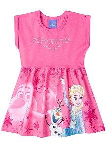 Vestido da Elsa e Olaf - Disney Frozen - Rosa