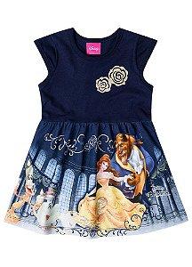 Vestido da Bela e a Fera - Disney - Azul Marinho