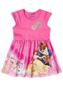 Vestido da Bela e a Fera - Disney - Rosa