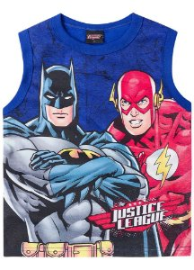 Regata Batman e Flash - Azul Royal - Liga da Justiça