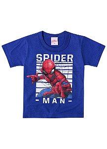 Camiseta do Homem Aranha - Azul Royal - Brilha no Escuro