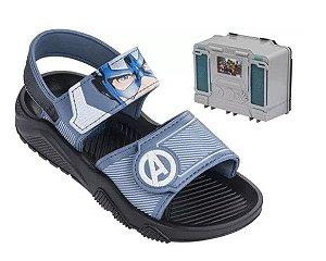 Sandália  Azul Capitão América - Avengers - Com Brinde - Grendene