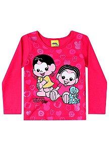 Blusa Baby Mônica e Magali - Vermelha