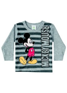 Camiseta Baby do Mickey - Cinza - Disney - Brandili
