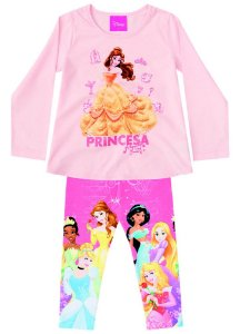Conjunto de Blusa e Legging - Princesas da Disney - Bela