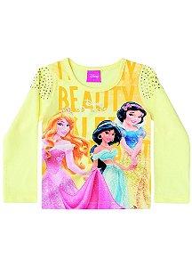 Blusa Princesas da Disney - Amarela