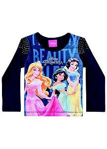 Blusa Princesas da Disney - Azul Marinho