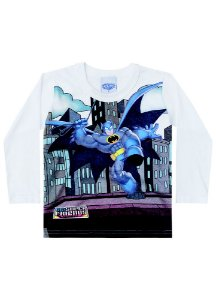 Camiseta do Batman - Branca - DC Super Friends - Brandili