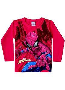 Camiseta do Homem Aranha - Brilha no Escuro - Vermelha