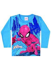 Camiseta do Homem Aranha - Brilha no Escuro - Azul - Brandili