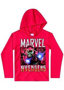 Camiseta do Homem de Ferro - Marvel Avengers - Vermelha - Brandili