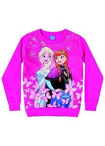 Moletom Felpado Elsa e Anna - Disney Frozen - Pink