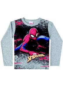 Camiseta do Homem Aranha - Cinza - Marvel