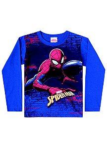 Camiseta do Homem Aranha - Azul Royal - Marvel - Brandili