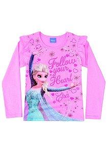 Blusa da Elsa - Disney Frozen - Rosa - Brandili