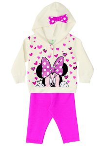 Conjunto de Blusa de Moletom e Legging da Minnie - Off-White