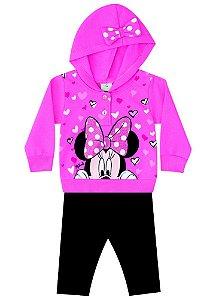 Conjunto de Blusa de Moletom e Legging da Minnie - Pink