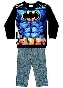 Conjunto de Moletom - Blusa Músculos e Calça - Batman