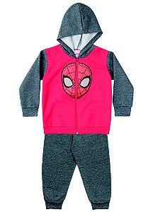 Conjunto de Jaqueta e Calça de Moletom - Homem Aranha - Vermelho