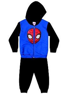 Conjunto de Jaqueta e Calça de Moletom - Homem Aranha - Azul e Preto - Brandili